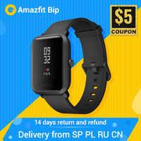 Huami Amazfit Bip inteligentny zegarek globalna wersja kobiety mężczyźni GPS GLONASS życie wodoodporny smartwatch z kontrolą tętna Fitness Tracke
