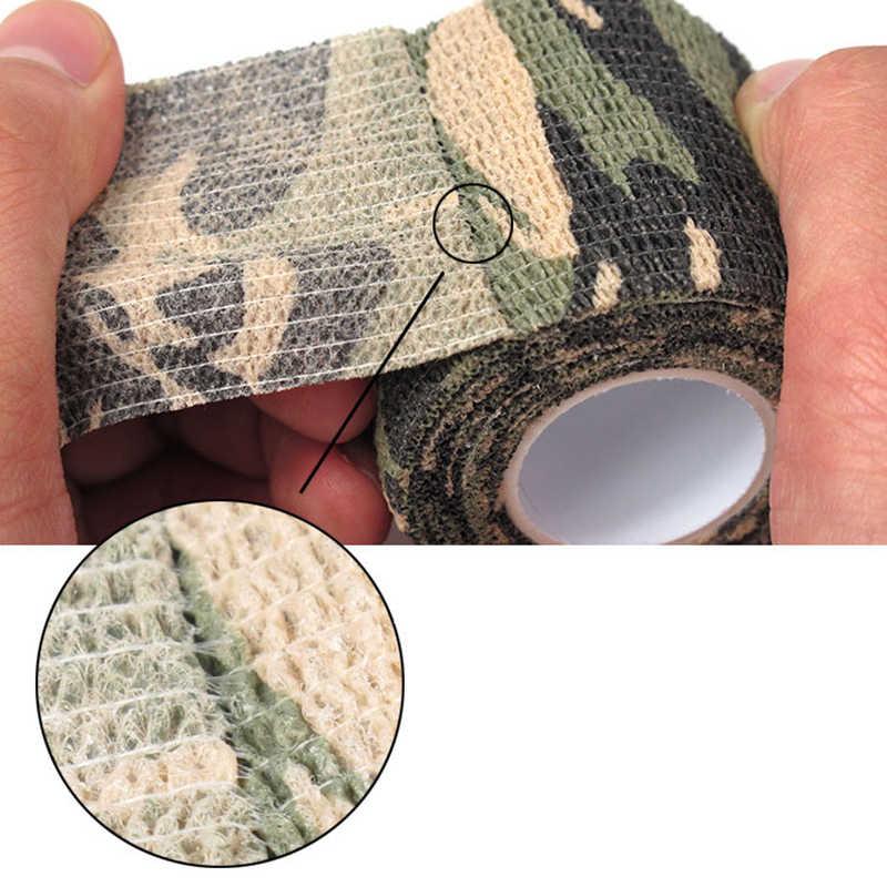 12 スタイル自己接着不織布迷彩テープラップライフル銃狩猟ステルステープ防水キャンプ迷彩テープ