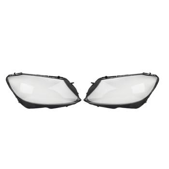 1Pair Car Clear Headlight head light lamp Lens Cover head light lamp Cover For Mercedes Benz W205 C180 C200 C260L C280 C300 2015