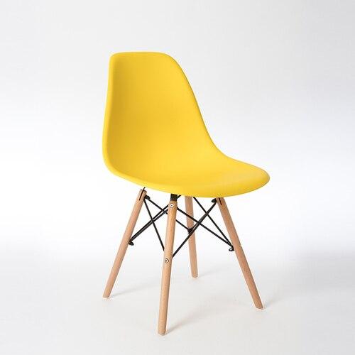Скандинавские стулья для столовой, простые современные складные маленькие квартиры, ленивые домашние столы, задние пластиковые компьютерные кресла - Цвет: 4