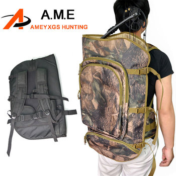 Black/Camo Archery Compound Bow Case 600D Nylon Backpack Hunting Shoulder  Bag Strike Prevention Shooting Accessories