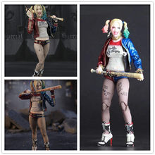 Harley Quinn Figuur 6 ''Pop Suicide Squad Action Figures Pvc Figure Joint Beweegbare Q Posket Dc Model Speelgoed(China)