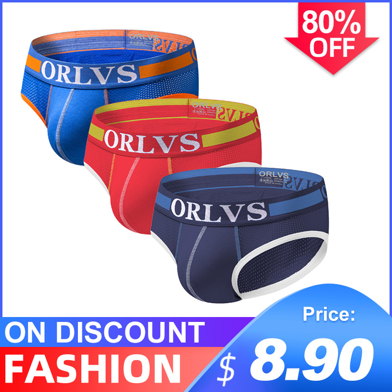 3Pcs/lot Breathable Sexy Undenwear Men Jockstrap Briefs Men's UnderwearBikini Gay Men Underwear Male Jock Strap Srting Man