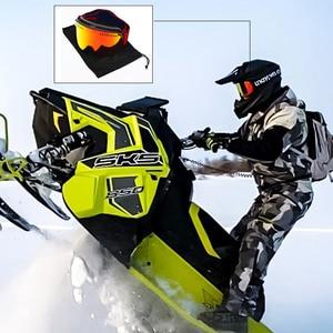 Image 5 - Jiepolly מגנט סקי Goggle חורף שלג ספורט סנובורד משקפיים אנטי ערפל UV הגנת Snowmobile כדורי סקי Eyewear FJ037