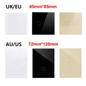 Image 3 - Luci a LED interruttore a sfioramento per lampadine a LED EU US UK AU Standard Touch Sensor Control interruttore a parete 1/2/3 Gang pannello in cristallo a 1 via
