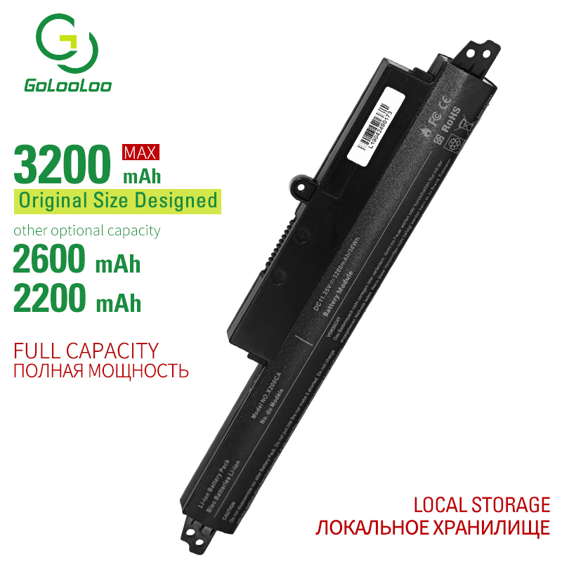 Golooloo 11.25v 33Wh Laptop Battery For Asus A31N1302 A31LM9H VIVOBOOK X200CA F200CA 11.6 X200M X200MA