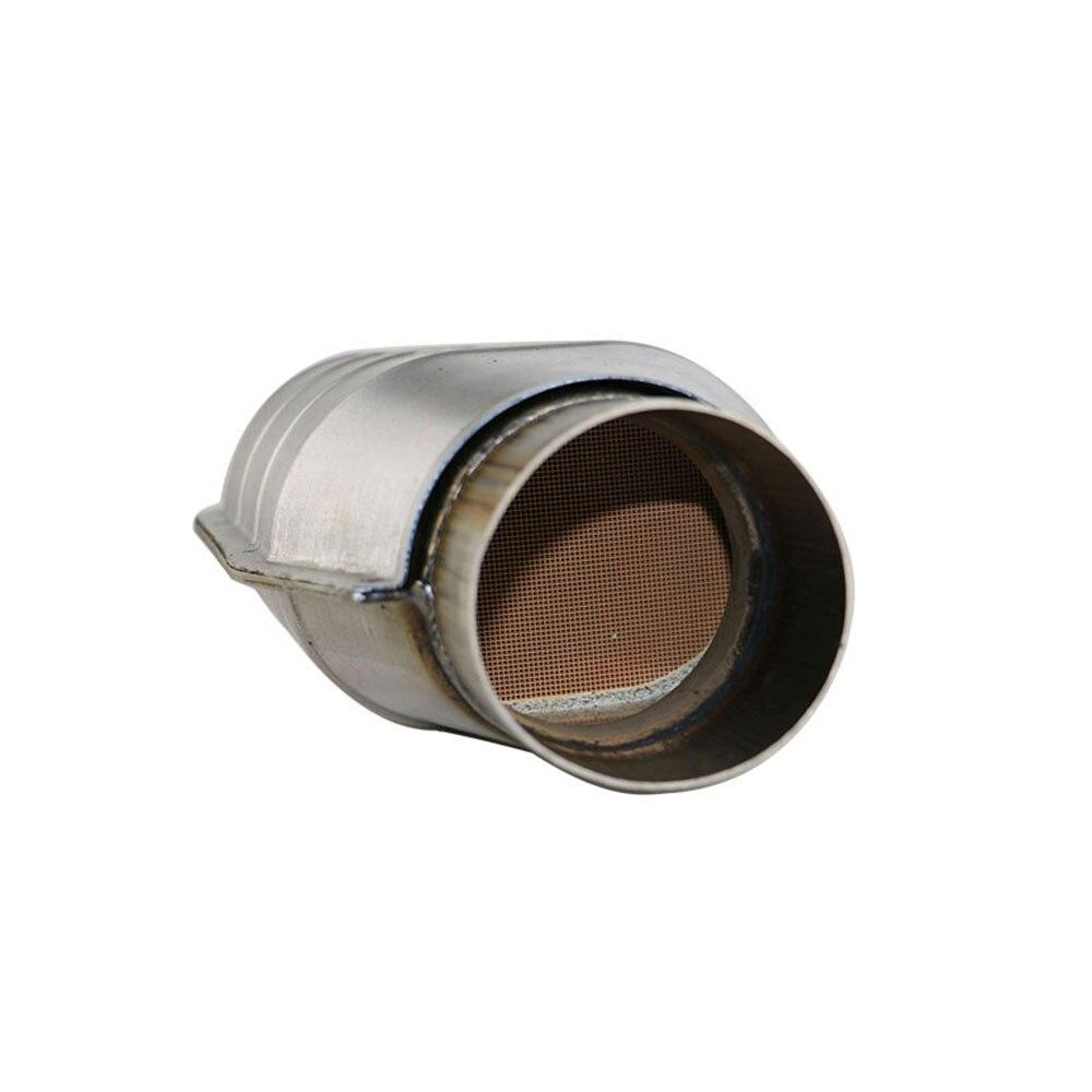 Car Exhaust Ceramic Catalytic Converter In 400 Cell High Flow Muffler Ceramic Coated Catalyst Converter Euro 2 Free Ship