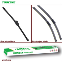 Front And Rear Wiper Blades For Seat Ibiza 2012 2016 High Quality Rubber windshield Windscreen Car Accessories 24+16+13 Windscreen Wipers Automobiles & Motorcycles -