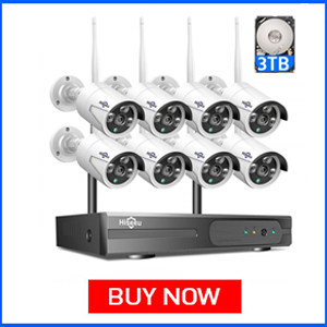 Hiseeu 1080P Wireless CCTV Camera System with 8 Cameras
