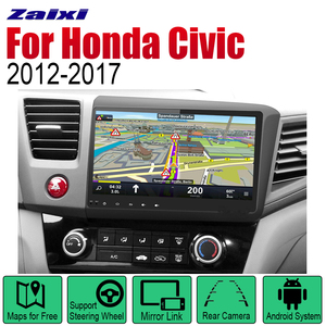 ZaiXi Auto Radio 2 Din Android Car Player For Honda Civic 2012~2017 GPS Navigation BT Wifi Map Multimedia system Stereo