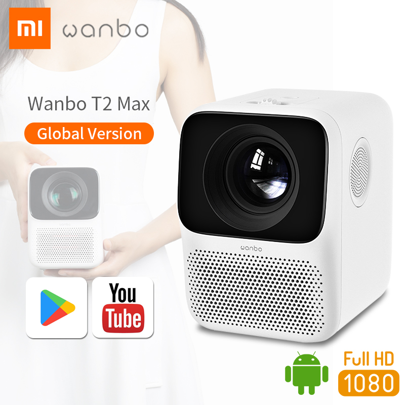 Wanbo Projector Global Version T2 Max LCD LED Mini Portable Beamer Full HD 1080P Home Office Cinema Theater TV XiaoMi Youpin