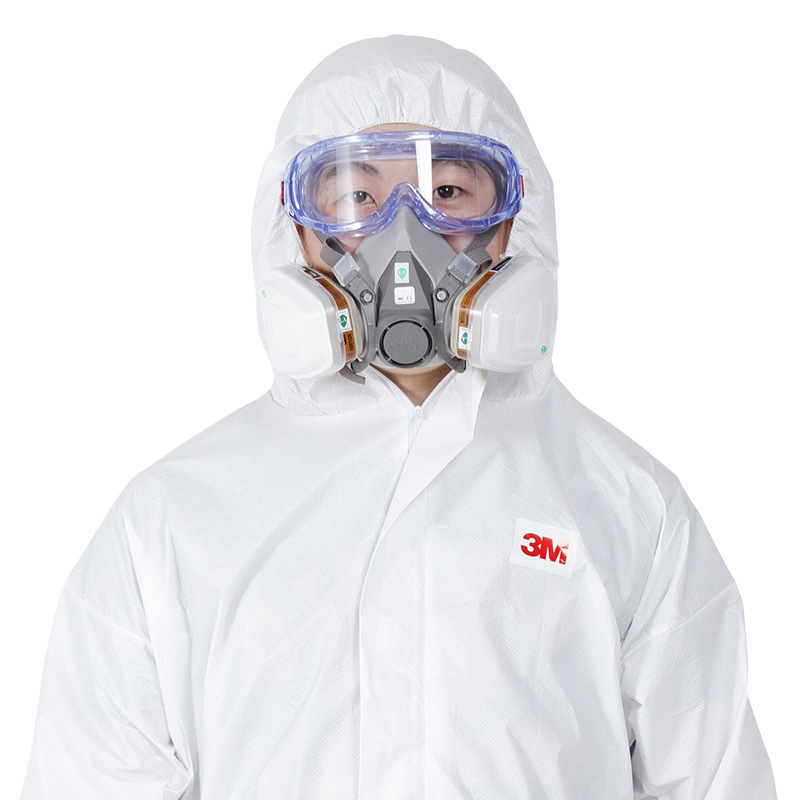 Genuine Product 3M 4535 Protection Suit Dustproof Clothes One-piece Hooded Painting Clothes Back Breathable Fang Yi Fu Dustproof