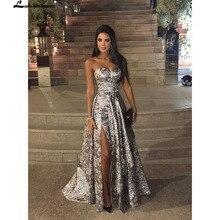 Lakshmigown модное ТРАПЕЦИЕВИДНОЕ вечернее платье с блестками милое сердце с открытой спиной сексуальное вечернее платье длинное suknia wieczorowa