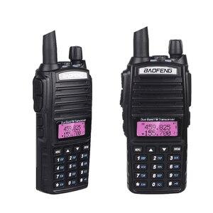 Image 2 - Güç 8W UV 82 Walkie Talkie Baofeng yüksek güç Dual Band CB Ham radyo amatör 10KM UV82HP iki yönlü radyo 8 watt VHF alıcı verici