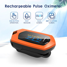 Family Finger Digital Oximeter OLED PR SPO2 Blood Oximeters Monitors Chargeable Equipment Oxygen Saturation Rate Monitor Counte