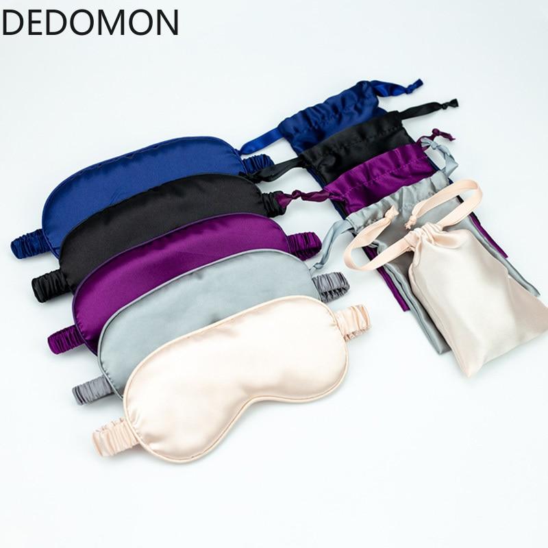 Smooth Imitated Silk Sleepmask Supple Eye Shade Portable Travel Eyepatch Breathable Rest Blindfold Eye Cover Night Sleeping Mask