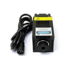 Mini escultura focusable 450nm 2500mw 2.5w módulo de diodo laser azul com ventilador colling & 12v adaptador
