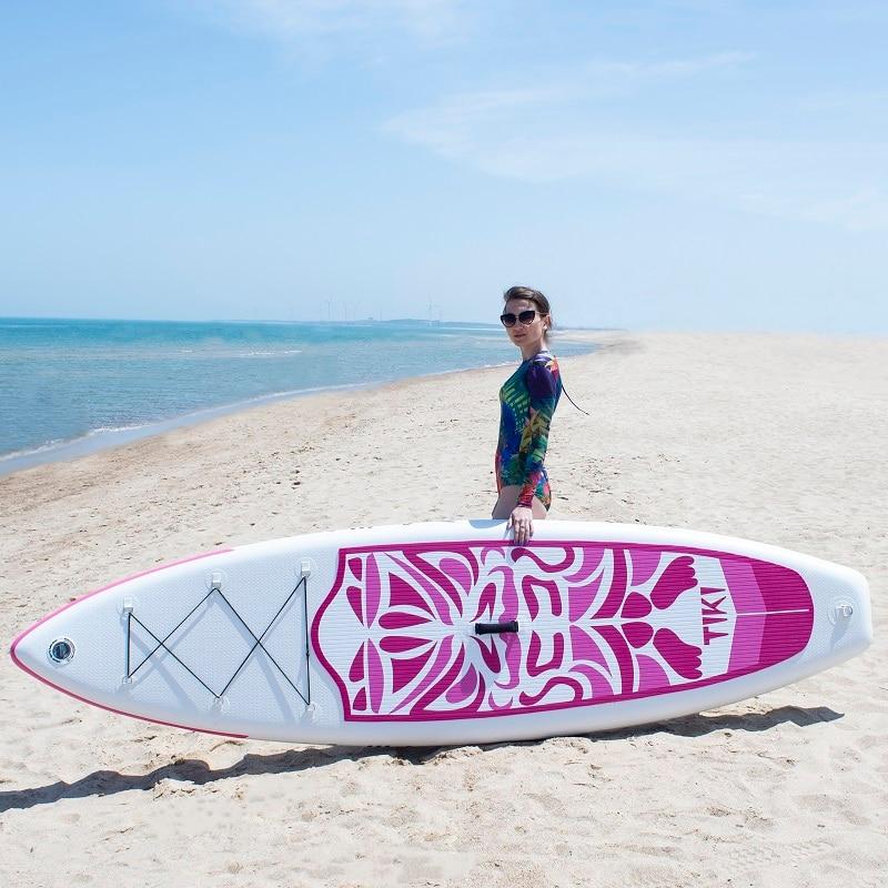 Надувная подставка весло доска Sup-доска для серфинга каяк серфинга набор 10'6 x33''x6'' с рюкзаком, поводком, насосом, водонепроницаемой сумкой