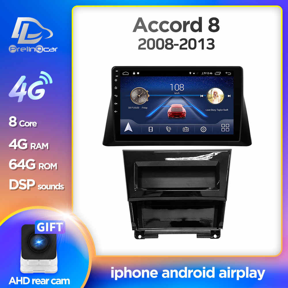 4G Lte Android 9.0 Auto Gps Multimedia Video Radio In Dash Voor Honda Accord 8 2008-2013 jaar Navigatie Stereo
