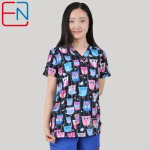 Image 3 - Marca esfrega esfrega topos para as mulheres esfrega esfrega, esfrega uniforme em 100% algodão chengse maotouying