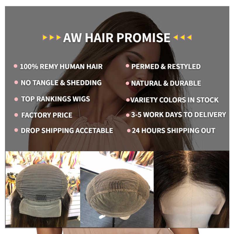 Aw 10 ''Hd Transparante Remy Human Haar Pruik Pre Geplukt Haarlijn Korte Bob Lace Front Half Lace Pruik Voor vrouwen 150% Dichtheid