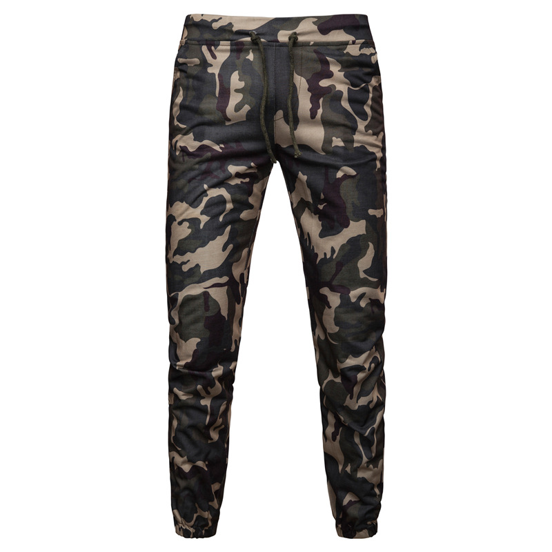 Hot Selling Autumn And Winter New Style Men Loose-Fit Sports Camouflage Pants Men's Large Size Casual Harem Pants