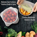 Silikon Lebensmittel Wraps Reusable Halten Lebensmittel Frisch Wrap Schüssel Topf Dichtung Vakuum Abdeckung Stretch Deckel Küche Zubehör