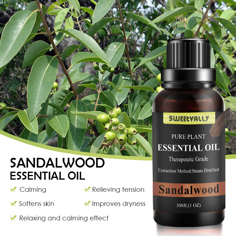 30ML Massage Essential Oil Cinnamon Frankincense Eucalyptus Essential Oil100% Organic Oil Body Relaxation Relieve Stress Anxiety