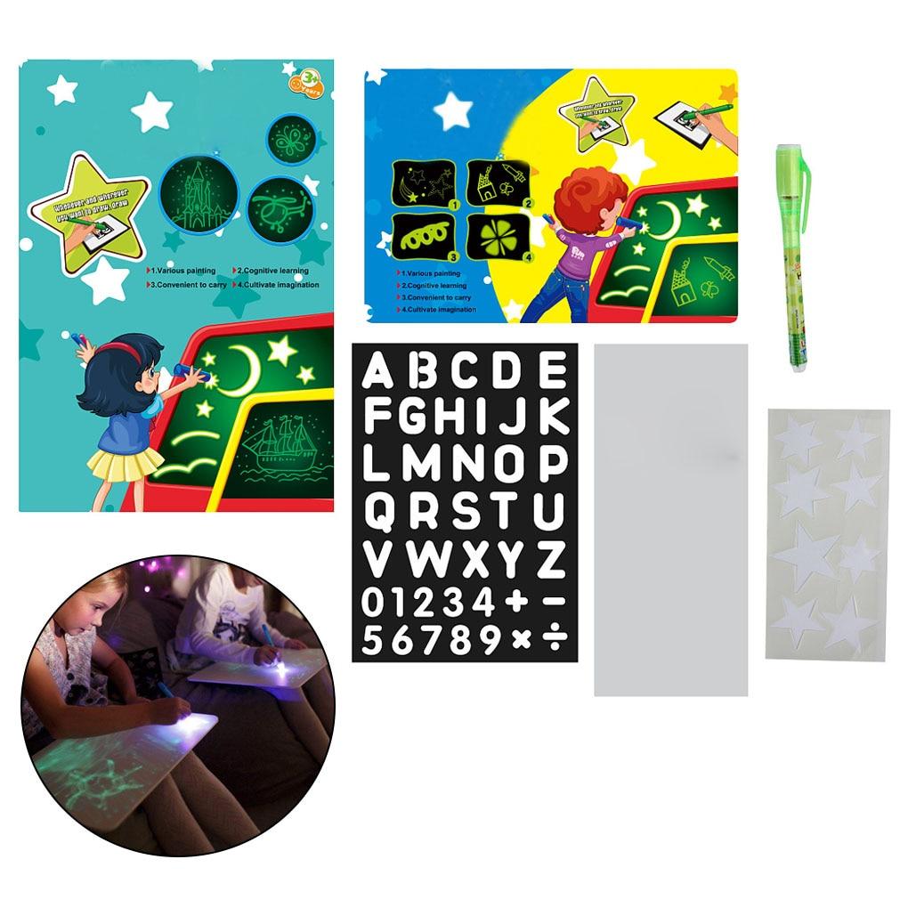 New Light Drawing Pad Kids Luminescent Drawing Board Glowing Magic Graffiti Painting Writing Educational Toy