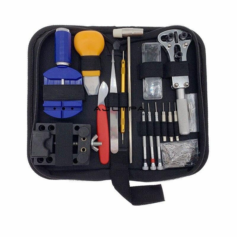 20Set 16/147Pcs Repair Watch Tools Clock Repair Tool Kit Set Band Case Opener Link Spring Bar Remover Watchmaker Tools H54814