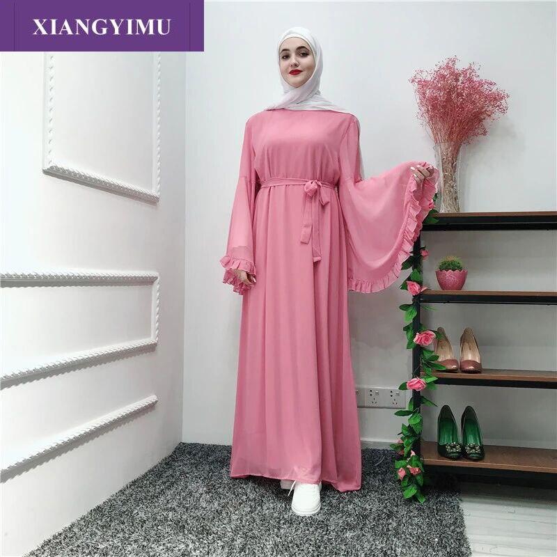 LR238-3 mode Robe adulte Robe musulmane turque dubaï Abaya Musulman Service de culte arabe