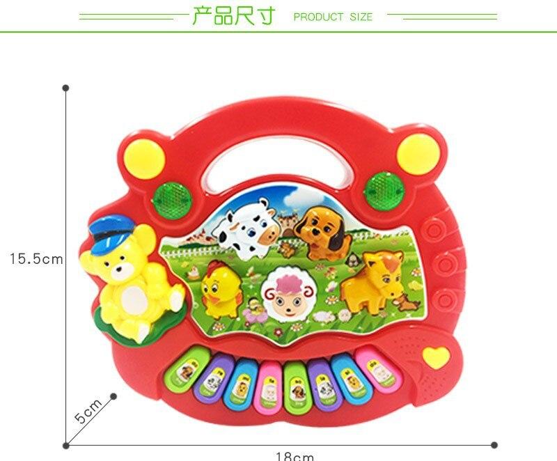 Cartoon Animal Farm Music Piano Baby ENLIGHTEN Early Childhood Educational Electronic Organ Toy Hot Sales Children Teach Piano