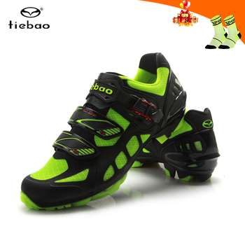 Tiebao men cycling shoes sapatilha ciclismo mtb mesh breathable riding bicycle sneakers self-locking SPD mountain bike shoes