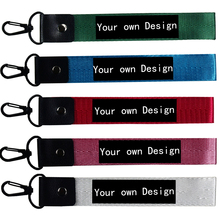 10Pcs Custom Made Car Keychain Your own Design Logo Jewelry Keyring Motorcycle Key Straps Fob keycord Phone Lanyards Accessories