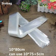 StoBag 100 Uds. Bolsas de embalaje Opp transparentes de 10*80cm bolso delgado de embalaje bolsa autoadhesiva de plástico bolsa de regalo de joyería bolsa larga OEM