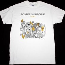 FOSTER THE PEOPLE TORCHES INDIE POP ALTERNATIVE THE KOOKS NEW WHITE T-S