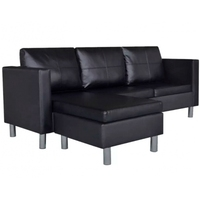 Sectional 3 Seater Sofa Synthetic Leather