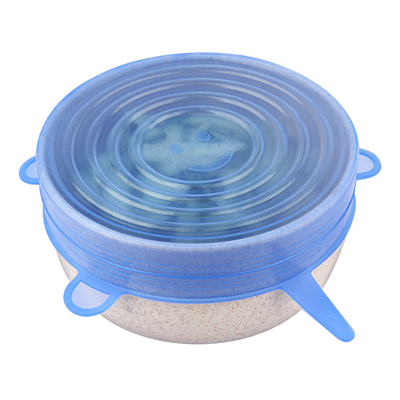 6 Pcs Silicone Stretch Lids Reusable Airtight Food Wrap Covers Keeping Fresh Seal Bowl Stretchy Wrap