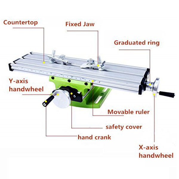 New-Bg630 Multifunktions Arbeitstisch Fräsen Arbeitstisch Fräsen Maschine Verbindung Bohren Rutsche Tisch Für Bank Bohrer