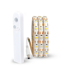 5 в PIR датчик движения полоса лампа USB Светодиодная лента светильник 2835SMD лента лампа диод гибкий ТВ Настольный ПК экран подсветка светильник 1 м/2 м/3 м