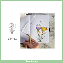 Clear Stamps Silicone Seals for DIY Scrapbooking Flowers Rubber Stamps Handmade Making Photo Album Crafts Card Decor New Stamps new scrapbook diy photo album cards butterfly style transparent acrylic silicone rubber clear stamps sheet handmade craft decor
