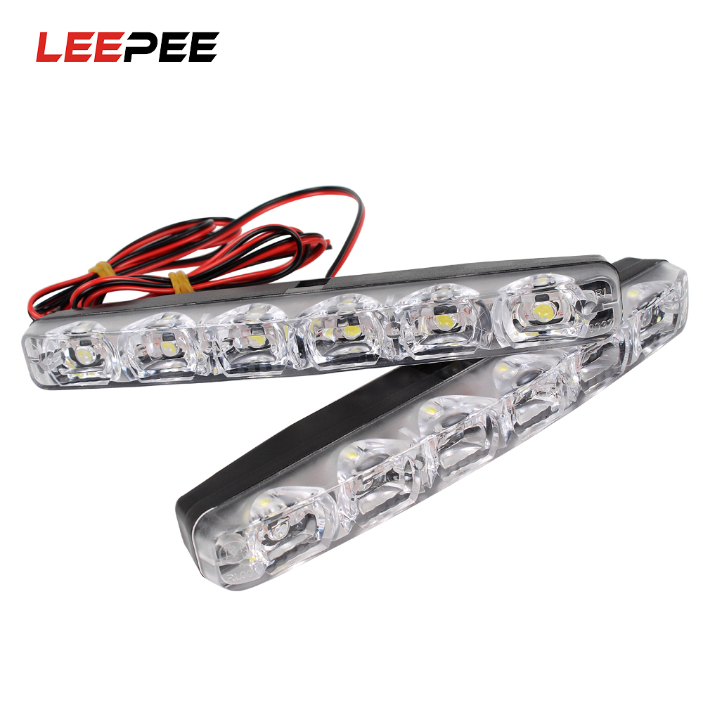 LEEPEE 6 LED s lumière LED de jour de voiture DRL feux de jour de voiture style de voiture