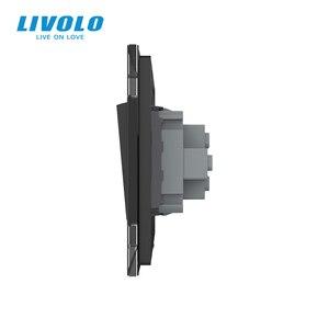 Image 5 - Livolo Manufacturer EU standard Luxury crystal glass panel,Push button 2 Way switch, keyboard switch ,key pad cross switch