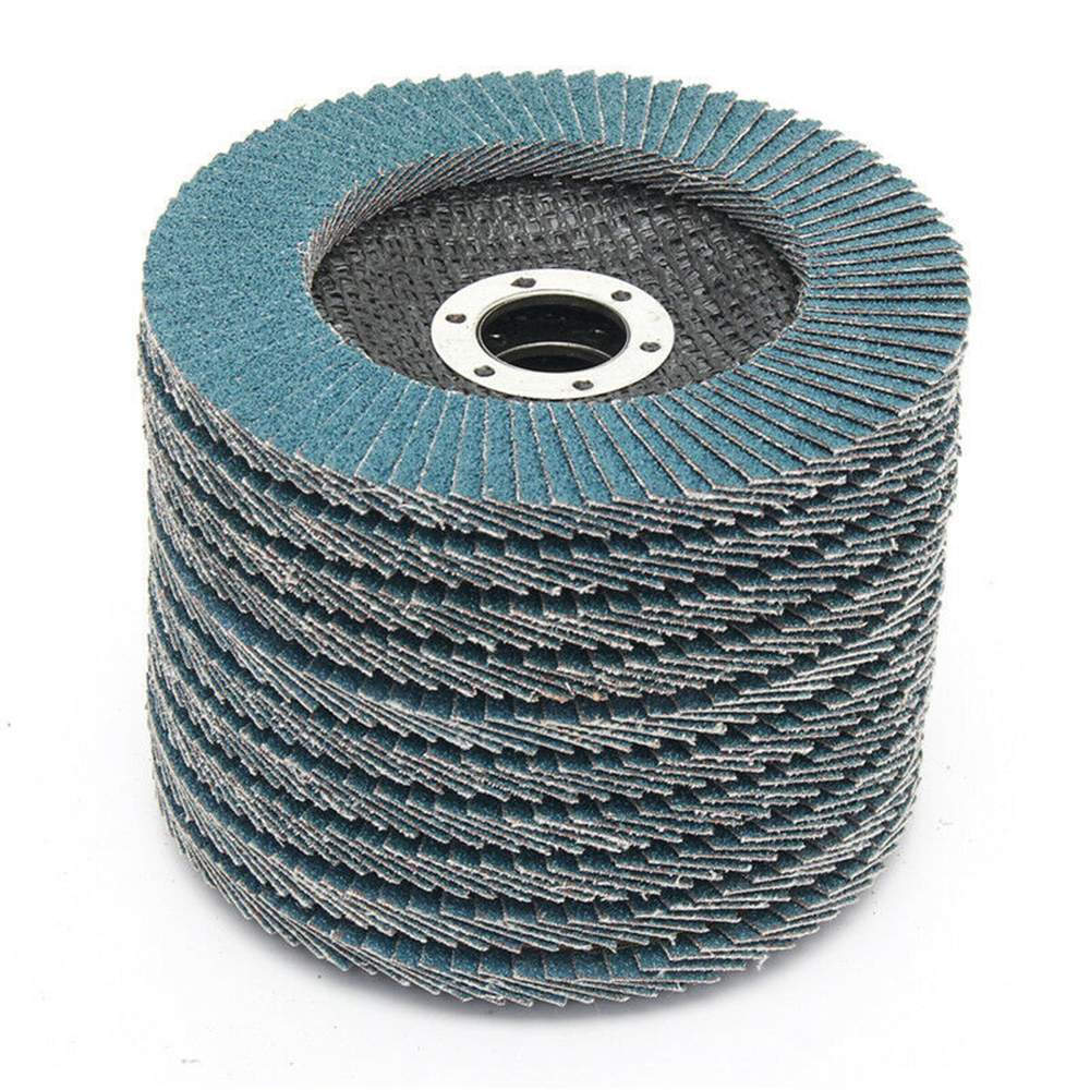 Durable 10 PCS 125mm 5inch Sanding Fladp Discs 40/60/80/120 Grit Grinding Angle Wheels Cubic Zirconia