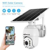 1080P Drahtlose Solar Panel Sicherheit Kamera Outdoor Wasserdicht Überwachungs Kamera mit Voller Farbe Nachtsicht Unterstützung PIR