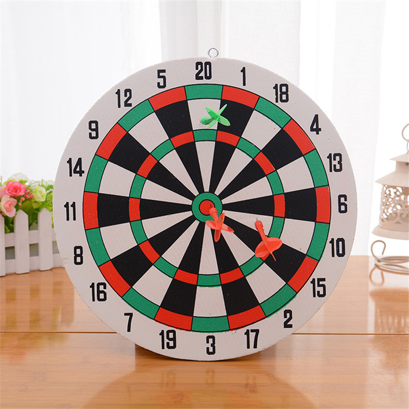 Diameter 29.5cm Darts Target +3 Darts Wall-mounted Two-sided Dual-use Thick Foam Toy Dart Board Suit