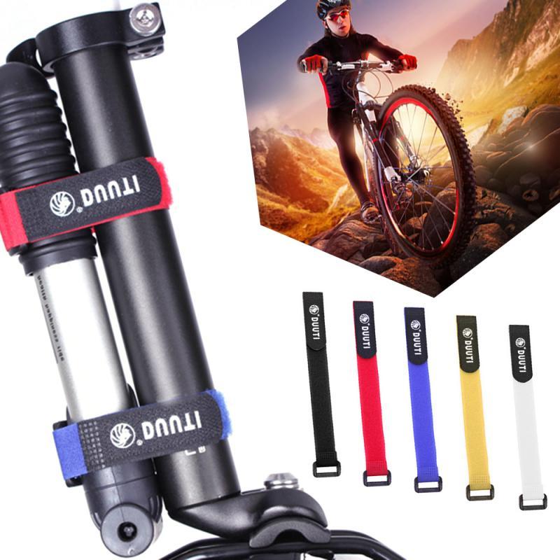 1PC Bicycle Nylon Hook Loop Tape Self Adhesive Strap Bike Cable Thread Tie Pump Bottle Band Cycling Flashlight Bandage Handlebar