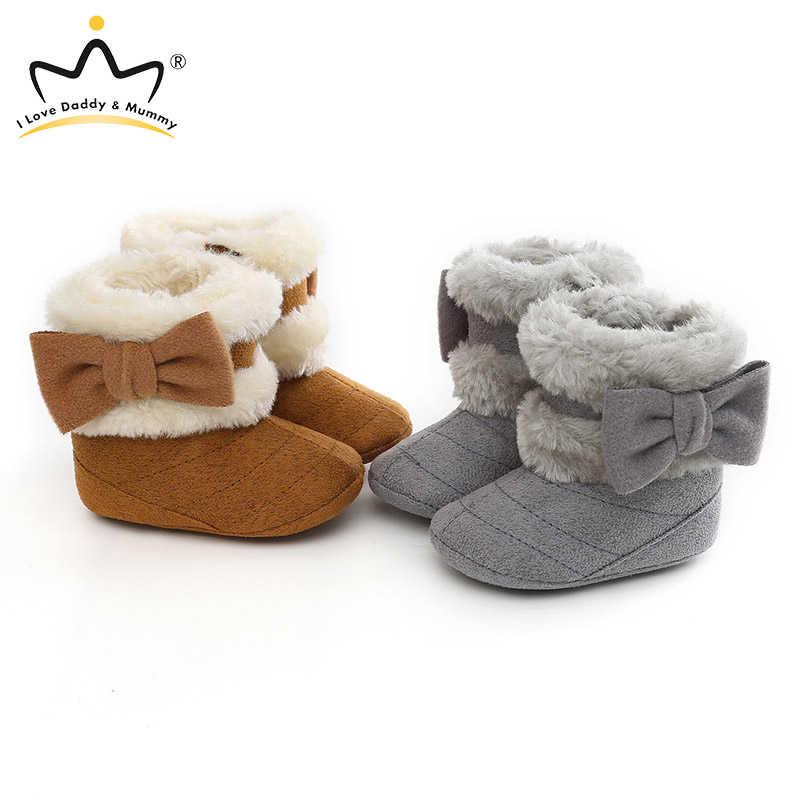 Trẻ Sơ Sinh Giày Mùa Đông Cho Bé Gái Giày Đế Mềm Chống Trơn Trượt Cho Bé Tuyết Ấm Prewalker Sơ Sinh Giày