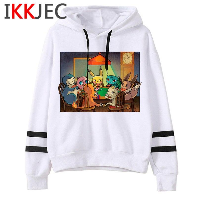 Pokemon Go Funny Cartoon Warm Hoodies Men/women Cute Pikachu Japanese Anime Sweatshirts Fashion 90s Steetwear Hoody Male/female 2