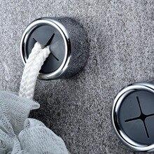 3 шт. дверь задняя самоклеющаяся для ногтей ABS ванная комната Домашний Органайзер без следа круглый водонепроницаемый универсальное полотенце держатель настенный крючок
